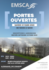 Journée Portes Ouvertes à l'EMSCA, le samedi 21 mars 2020